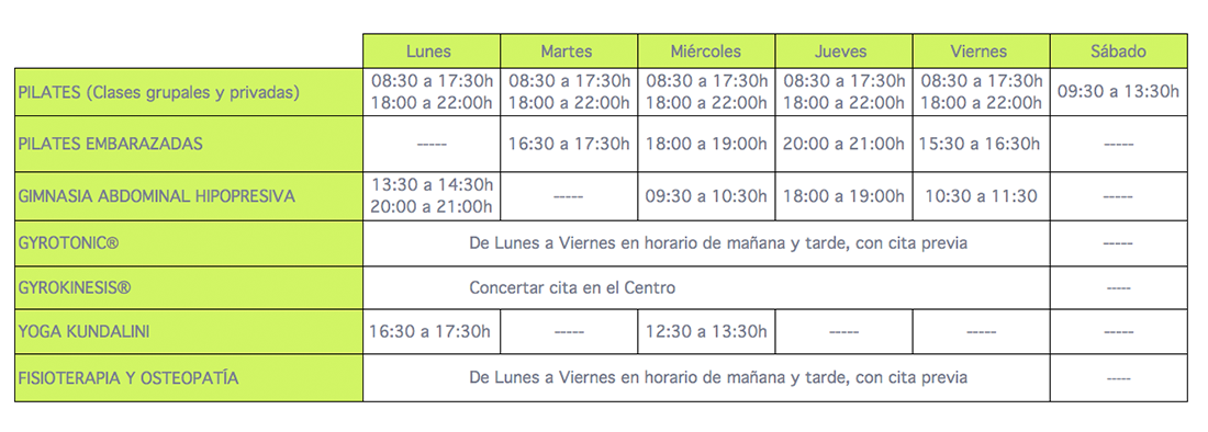 horarios bepilates